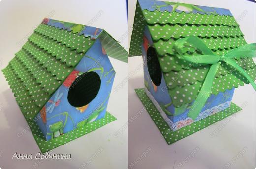 Мастер-класс к Пасхе! Пасхальный домик из бумаги. У домика открывается крыша, внутрь можно положить яйцо или любой другой подарок.  А теперь давайте научимся делать такой сувенир сами! фото 9