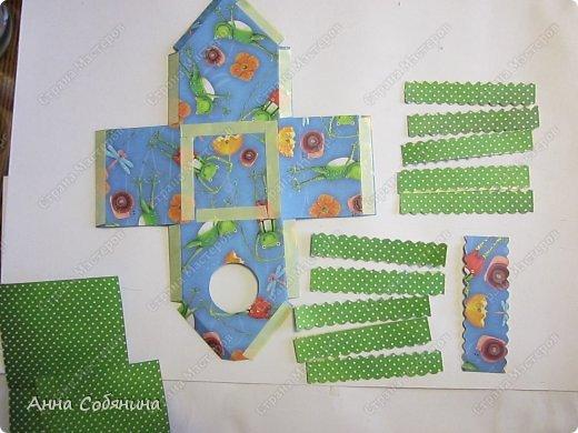 Мастер-класс к Пасхе! Пасхальный домик из бумаги. У домика открывается крыша, внутрь можно положить яйцо или любой другой подарок.  А теперь давайте научимся делать такой сувенир сами! фото 5