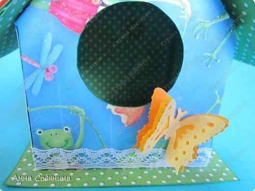 Мастер-класс к Пасхе! Пасхальный домик из бумаги. У домика открывается крыша, внутрь можно положить яйцо или любой другой подарок.  А теперь давайте научимся делать такой сувенир сами! фото 11