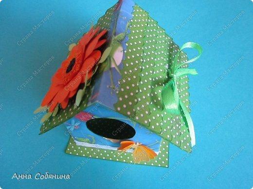 Мастер-класс к Пасхе! Пасхальный домик из бумаги. У домика открывается крыша, внутрь можно положить яйцо или любой другой подарок.  А теперь давайте научимся делать такой сувенир сами! фото 12