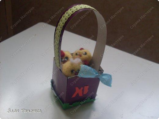 вот такая вот корзина для яйца у меня получилась. вот как я её делала : фото 1