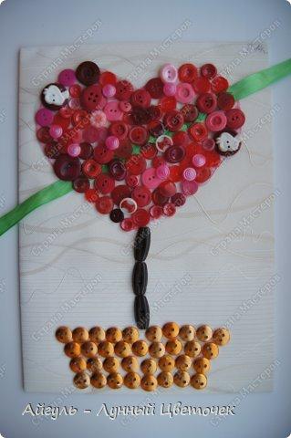 Сердце из пуговиц. фото 2