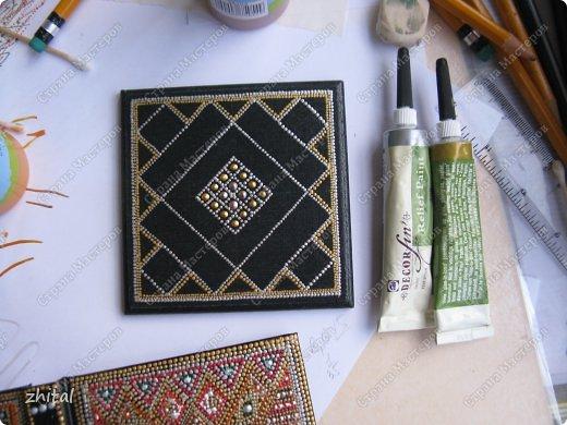 Карандашница и подстаканник - подставочка расписаны точками, теперь уже любимыми.  фото 8