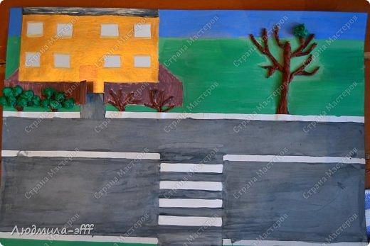 Здравствуйте мастера и мастерицы.Хочу поделиться с вами поделкой и МК на тему правила дорожного движения,которую мы с сыном делали в садик. фото 10