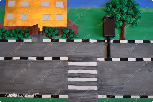 Здравствуйте мастера и мастерицы.Хочу поделиться с вами поделкой и МК на тему правила дорожного движения,которую мы с сыном делали в садик. фото 11