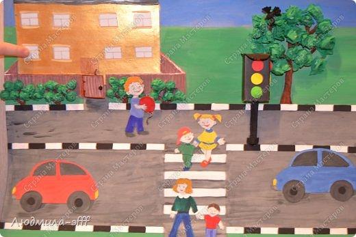 Здравствуйте мастера и мастерицы.Хочу поделиться с вами поделкой и МК на тему правила дорожного движения,которую мы с сыном делали в садик. фото 19