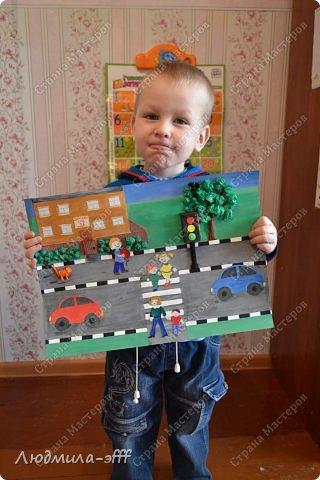 Здравствуйте мастера и мастерицы.Хочу поделиться с вами поделкой и МК на тему правила дорожного движения,которую мы с сыном делали в садик. фото 24