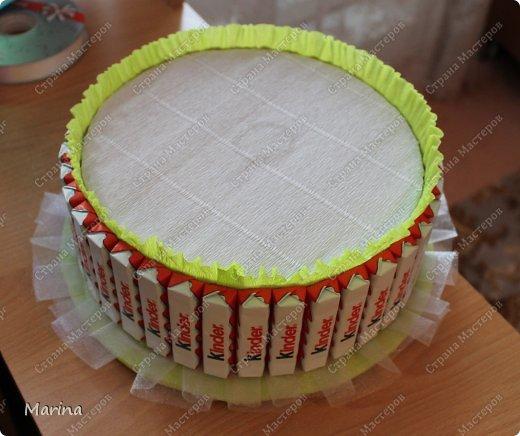 Торт из киндеров из картона