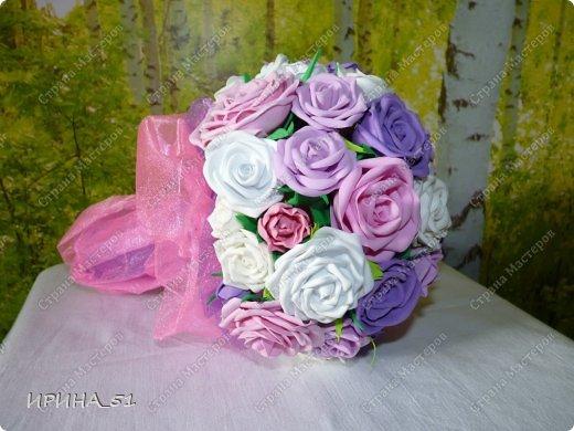 Нежный свадебный букет. фото 2