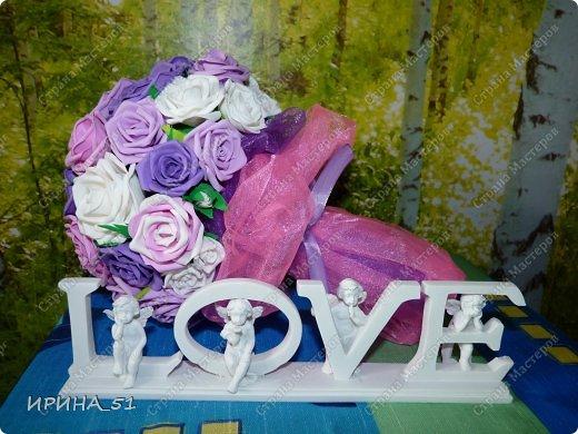 Нежный свадебный букет. фото 1