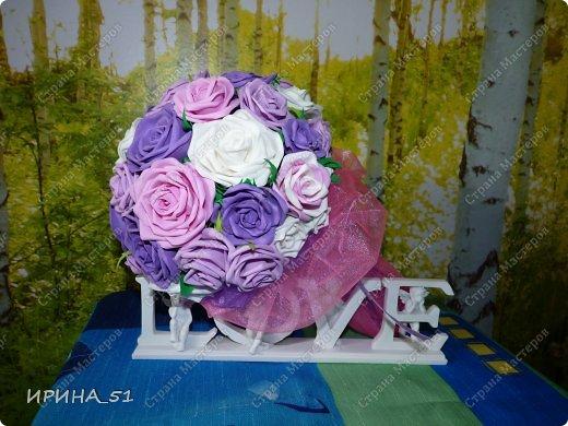 Нежный свадебный букет. фото 6