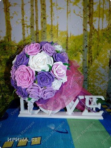 Нежный свадебный букет. фото 4