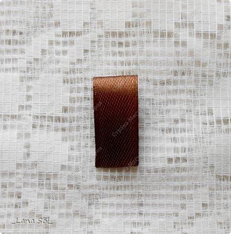 Мастер-класс Украшение Цумами Канзаши МК цветов и лепестка Молочный шоколад Ленты фото 4