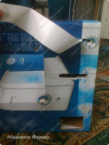 Здравствуйте, мастера! Моя доча любит банкоматы, нажимать на кнопочки, ммм... В каждом магазине не проходим мимо)) И в друг в банке меня осенило: надо моей дамочке сделать личный банкомат!!! А вот как я его соорудила. фото 5