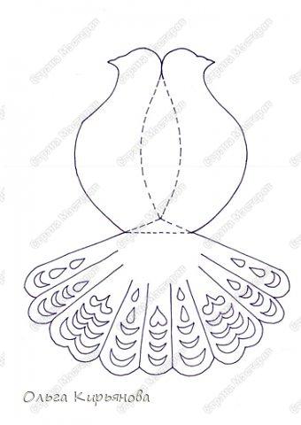 Шаблон голубь из бумаги своими руками
