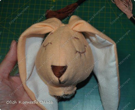 Игрушка Мастер-класс Шитьё Спящий заяц Нитки Ткань фото 29