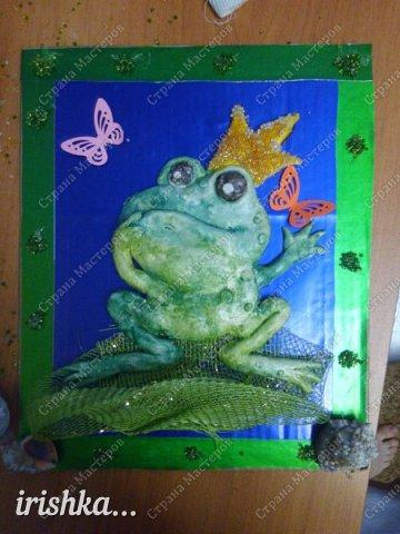 Вот такую лягушку мы сделали на выходных с братиком))) фото 1