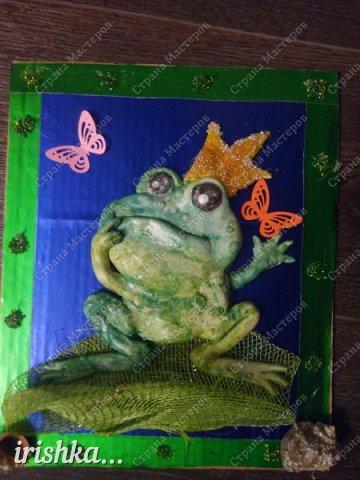 Вот такую лягушку мы сделали на выходных с братиком))) фото 9