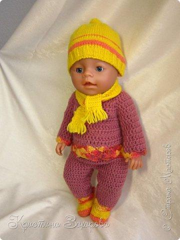 Добрый день всем жителям страны мастеров! Наконец-то я добралась сфотографировать наряды, которые я связала уже давно для любимой куклы дочи, для нашей Маши.  фото 1