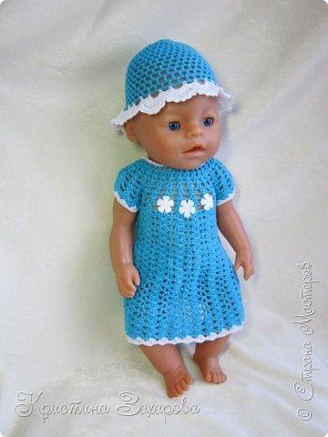 Добрый день всем жителям страны мастеров! Наконец-то я добралась сфотографировать наряды, которые я связала уже давно для любимой куклы дочи, для нашей Маши.  фото 4