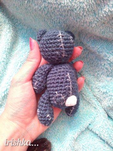 Вот такого мишку я сегодня связала)) Такой маленький хорошенький уютный милый комочек, что не хочется отпускать его с рук))) фото 10