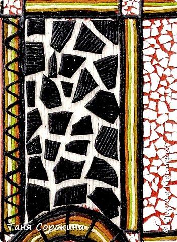 И снова я с работой для вдохновения на конкурс по технике пейп-арт  http://stranamasterov.ru/node/1048330  . На этот раз это цветной пейп-арт-коллаж. Рамочка для зеркала из Икеи с помощью цветных однотонных бумажных салфеток, яичной скорлупы и керапласта превратилась в интересный арт-объект. И, как всегда, стихи к работе...  Раму старую достану, Поменяю стиль и цвет, И появится саванна- Жаркой Африки привет.  И меня в зеркальной раме Окружают, словно Нил, Зебры с милыми котами И зелёный крокодил.))) фото 6