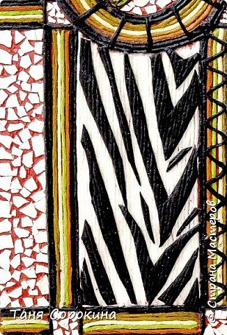 И снова я с работой для вдохновения на конкурс по технике пейп-арт  http://stranamasterov.ru/node/1048330  . На этот раз это цветной пейп-арт-коллаж. Рамочка для зеркала из Икеи с помощью цветных однотонных бумажных салфеток, яичной скорлупы и керапласта превратилась в интересный арт-объект. И, как всегда, стихи к работе...  Раму старую достану, Поменяю стиль и цвет, И появится саванна- Жаркой Африки привет.  И меня в зеркальной раме Окружают, словно Нил, Зебры с милыми котами И зелёный крокодил.))) фото 4