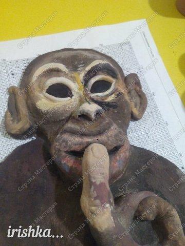 Наконец-то моя обезьянка, слепленная полтора года назад, дождалась своего часа)) фото 6