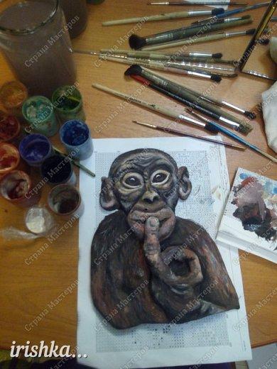 Наконец-то моя обезьянка, слепленная полтора года назад, дождалась своего часа)) фото 8