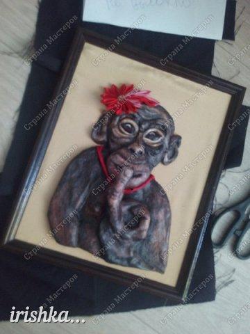 Наконец-то моя обезьянка, слепленная полтора года назад, дождалась своего часа)) фото 2