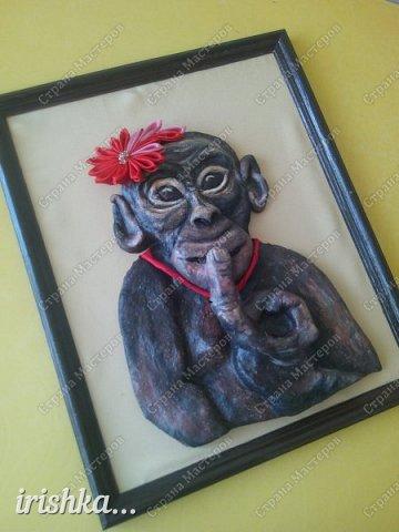Наконец-то моя обезьянка, слепленная полтора года назад, дождалась своего часа)) фото 1