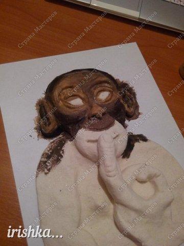 Наконец-то моя обезьянка, слепленная полтора года назад, дождалась своего часа)) фото 4