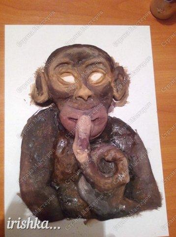Наконец-то моя обезьянка, слепленная полтора года назад, дождалась своего часа)) фото 5