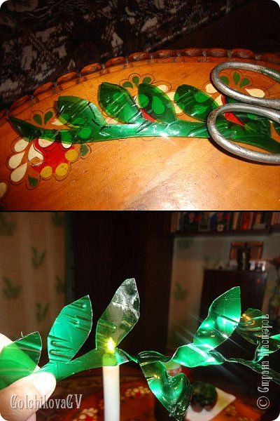Добрый вечер, дорогие соседи!!!  Решила я выставить свои цветы из пластиковых бутылок и баночек.  Никак не могла закончить, т.к не хватало зеленых бутылок, но помогли друзья. Результат решила вам показать. фото 3