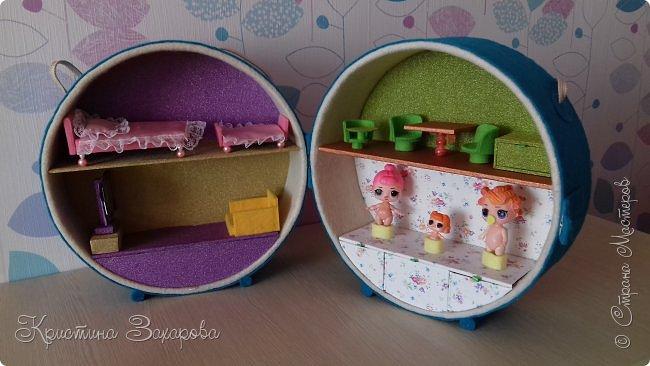 Куколки LOL популярны уже давно, а у Лерочки первая куколка появилась только летом. И когда я ее купила, у Оксаны Дмитриевой появился мастер-класс https://www.youtube.com/watch?v=fXTf9XLXzx0&t=629s, перед которым я не смогла устоять. Вот такой домик получился у меня. фото 4