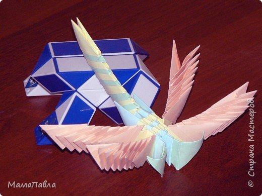 Оригами модульное: Моя певая работа - Стрекоза фото 1