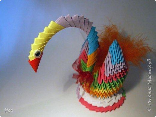 Оригами модульное: Наш лебедь.