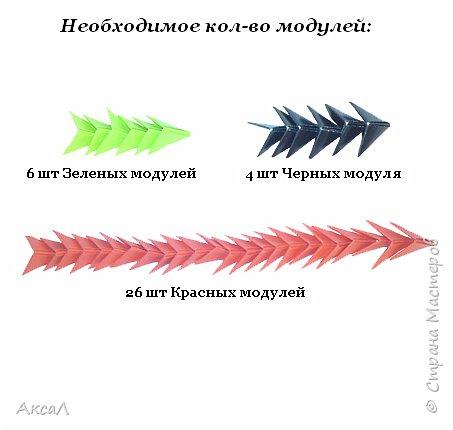 Оригами модульное: Клубничка фото 3