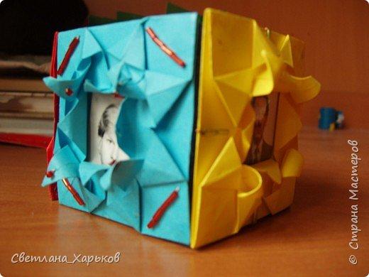 Оригами: Карандашница/шкатулка отделанная оригами фото 1
