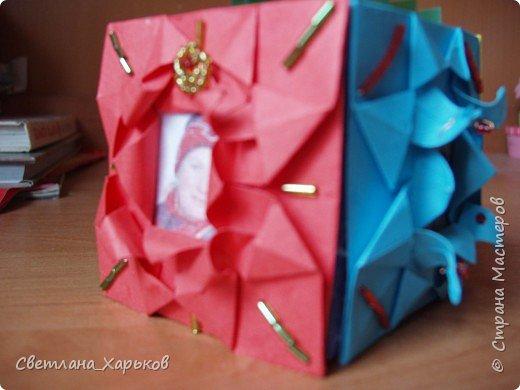Оригами: Карандашница/шкатулка отделанная оригами фото 2