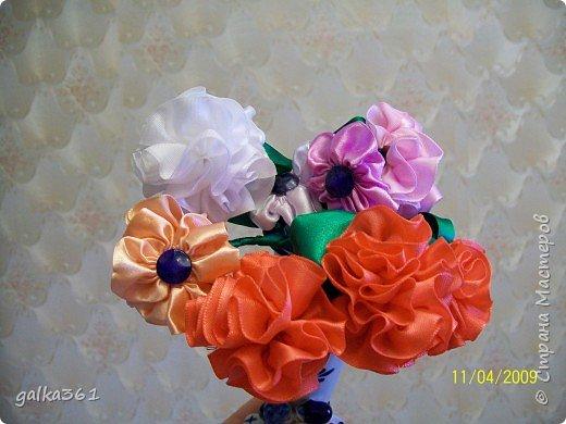 Шитьё: Цветы из лент фото 2
