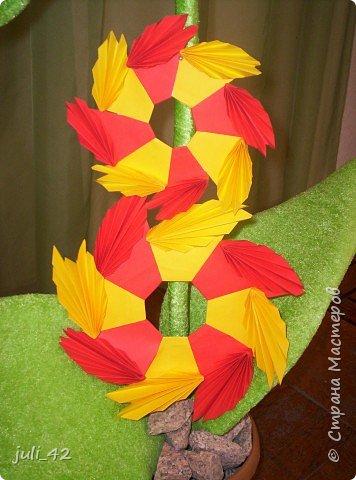 """Оригами модульное: Символ сада - """"Айголёк"""", в переводе """"лунный цветок"""" фото 2"""