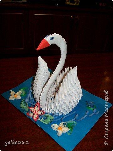 Оригами модульное: Вот и мой лебедь