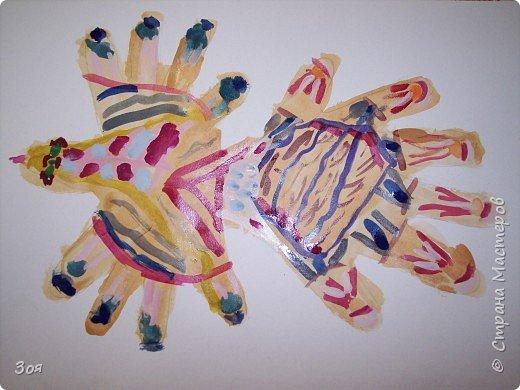 """Отпечатки ладошек: """"Птица-Счастье"""" фото 5"""