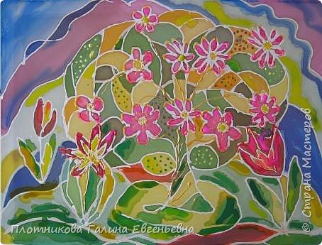 Батик:  Цветы весны