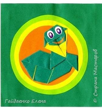 Оригами: Змейка