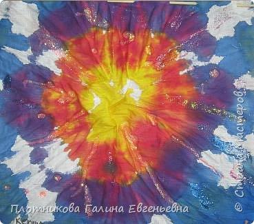 Батик:  Ксюшино солнышко