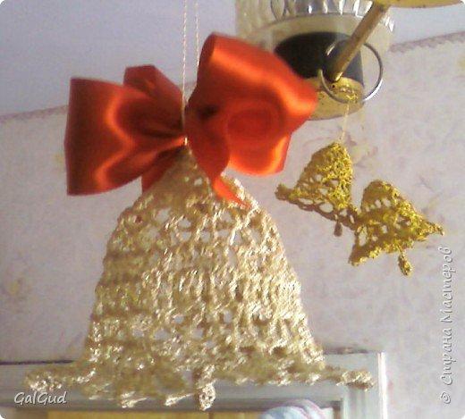 Вязание крючком: Новогодние колокольчики фото 1