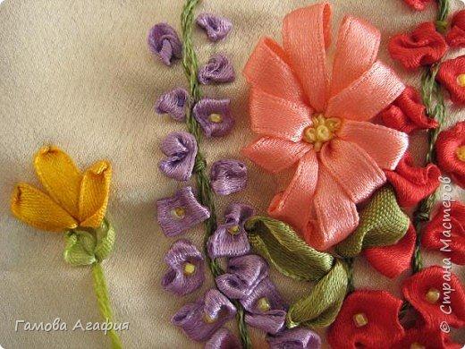 Вышивка: Букет луговых цветов фото 3