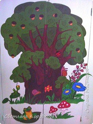 Роспись: как мы расписывали приемную в детском саду фото 2